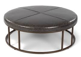round leather coffee table furniture captivating brown leather round ottoman ottoman with
