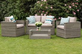 Natural Cappuccino Rattan Garden Sofa Furniture Bahia Modus Set - Rattan furniture set
