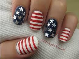 stars u0026 stripes 4th of july nail art youtube