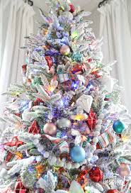 fun festive and flocked christmas tree