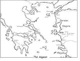 blank map of ancient greece minor ancient greece