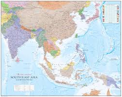 africa e asia mappa continental series africa wall map xyz maps