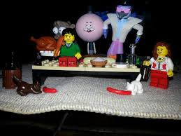 gravy yacht on lego regular show thanksgiving tableau