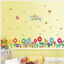 spring home decorative wall stickers clover wallpapers gifts for