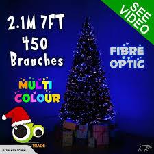premium 2 1m 7ft 210cm fibre optic led green tree