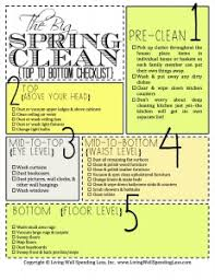 Spring Cleaning Hacks Top To Bottom Top To Bottom Cleaning Checklist Spring Cleaning