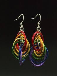 beginner earrings rainbow spiral hoops earrings kit colorful easy and for
