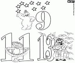 sesame street numbers coloring pages printable games