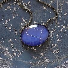 gemini zodiac constellation necklace by juju treasures