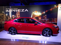 2017 subaru impreza hatchback red 2017 subaru impreza debuts ahead of 2016 new york auto show