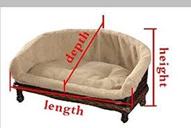 luxury wicker pet sofa dog sofa dog couch with cushion small m l