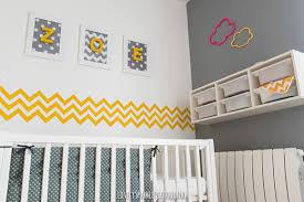 chambre bébé gris deco chambre bebe jaune et gris mobilier décoration