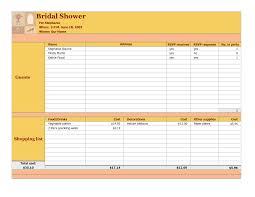 Wedding Invite Spreadsheet Photo Bridal Shower Party Checklist Image