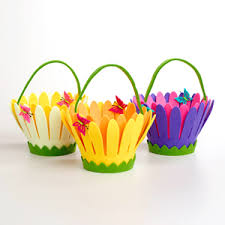 baskets for easter felt flower basket in easter