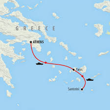 Santorini Greece Map by Greece Tours Holidays To Greece On The Go Tours