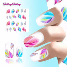 best beauty nail sticker decals feather rainbow dreams for nails