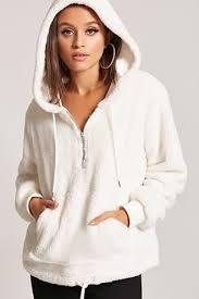 plush zip hoodie forever21