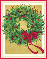caspari cards buy caspari quot ornament wreath quot christmas cards box of 16