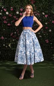 designer kleider arnella blau weiß