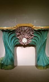 interior art nouveau medusa mantel design ideas for art nouveau