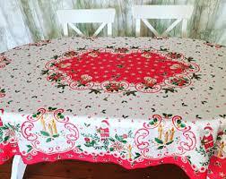 vintage tablecloths etsy