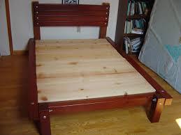 bedroom diy king bed frame rustic queen bed frame plans make