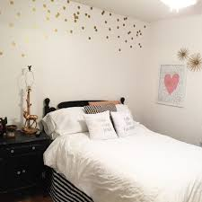 White Bedroom Records Black White And Gold Guest Bedroom Decorate My Life