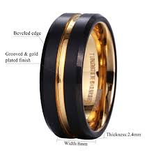 beveled ring king will duo mens 8mm black matte finish tungsten carbide ring