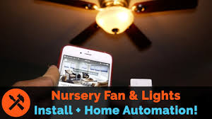 Nursery Upgrades Installing A Ceiling Fan With Lutron Caseta