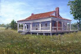 louisiana house civil war house mansfield louisiana painting by lenora de lude