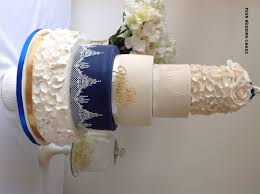 chandelier lace wedding cake by penn wedding cakes