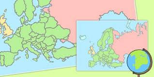 blank map of europe map of europe poster blank map europe poster display