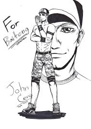 john cena with his face off taunting in wwe coloring page john