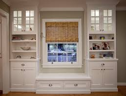 Built In Bookshelves With Window Seat Bookcase With Cabinet Base Bobsrugby Com Best Shower Collection