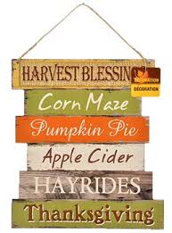 fall decoration hanging indoor outdoor welcome wood sign