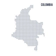 colombia map vector vector pixel map of colombia isolated on white background stock