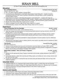 Internship Resume Examples by Amazing Chic Political Resume 4 Political Science Internship