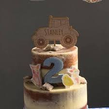 tractor cake topper personalised tractor cake topper kids birthday cake topper