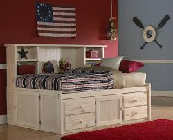 Bookcase Bed Frame Gracie Twin Size Big Bookcase Captain U0027s Bed