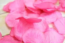 silk petals fuchsia hot pink silk petals confetti for weddings in bulk