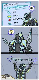 Warframe Meme - even far into the future duct tape has its uses warframe