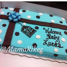 baby shower full sheet cake buttercream gum paste bow it u0027s a boy