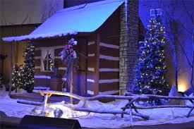 christmas village church stage design ideas