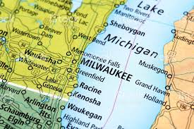 wisconsin map usa map of milwaukee in wisconsin state usa stock photo 477357236 istock