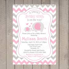pink elephant baby shower invitation by littleprintsparties