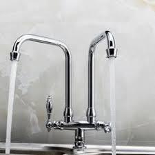 regulator gooseneck double spout marquee kitchen faucet metal