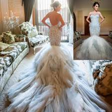 discount designer wedding dresses 2014 replicate vestidos luxury beaded embroidery backless wedding
