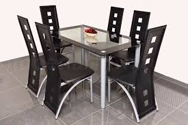 glass dining table for sale modern glass dining table and chairs set square cut outs bargain