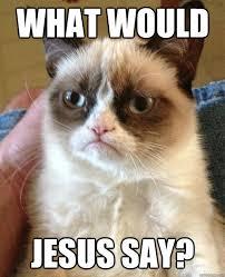 Say What Meme - what would jesus say cat meme cat planet cat planet