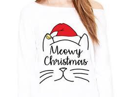 meowy christmas meowy christmas cat christmas shirt raglan top